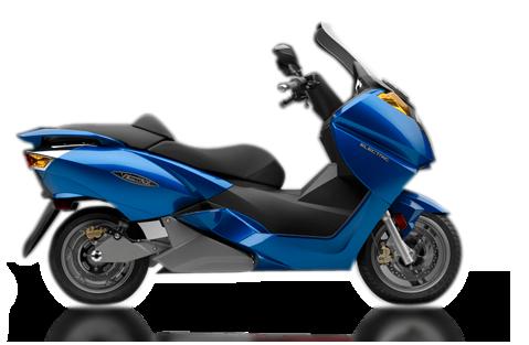 vectrix VX1 bleu scooter electrique